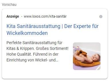 google ads bilderweiterungen beispiel