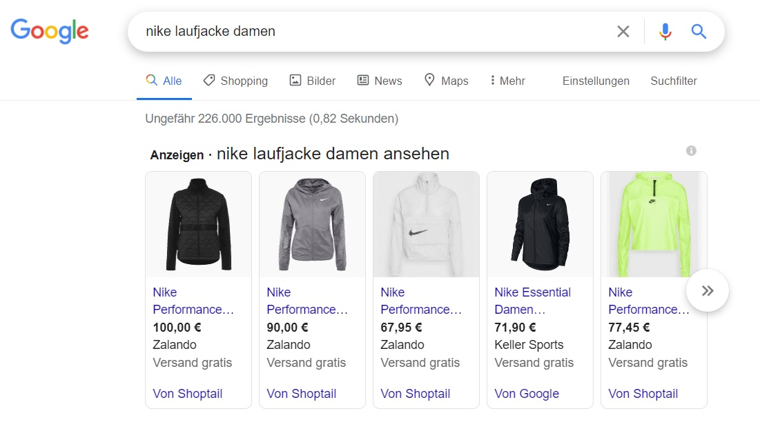 Google-Smart-Shopping-Kampagne